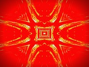 Hallucination Framed Prints - Effects of Vodka gold and red Framed Print by Renee Trenholm