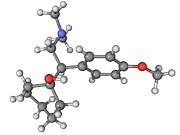 Effexor Antidepressant Drug Molecule Print by Laguna Design