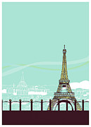 Eiffel Tower Digital Art Framed Prints - Effie Tower Framed Print by Thanks Love Happy Peace Smile