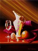 Wine Glass Paintings - Egg and things by Gene Gregory