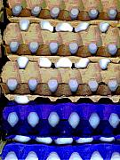 Food Prints - Egg Crates by Darian Day Print by Olden Mexico