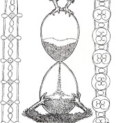 Hourglass Drawings - Egg Hourglass by Phil Burns