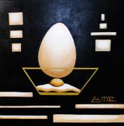 Original Paintings - Egg in a bowl by Lori McPhee
