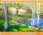 Concord Massachusetts Painting Posters - Egg Rock Poster by Michael Cunliffe Thompson