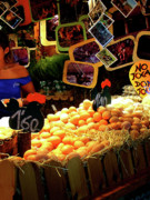 Egg Stand Barcelona Market Print by Julie Palencia