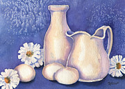 Pitcher Painting Originals - Egg Whites by Marsha Elliott