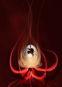 Hildingsson Prints - Egg with red flow Print by Johnny Hildingsson
