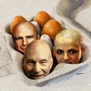 Imagination Digital Art Posters - Eggheads Poster by Anthony Caruso