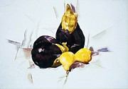 Demuth Framed Prints - Eggplants and Pears Framed Print by Pg Reproductions
