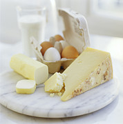 Cheeses Posters - Eggs And Cheese Poster by David Munns