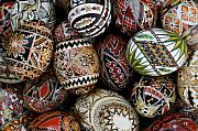 Ethnic Prints - Eggs For Easter Print by Sophie De Roumanie
