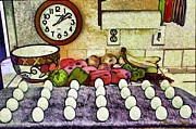 Yoke Posters - Eggs on Display Poster by Chuck Staley