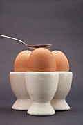 Egg-cup Photos - Eggs by Tom Gowanlock