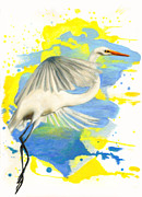 Science Fiction Pastels - Egret by Janice Lawrence