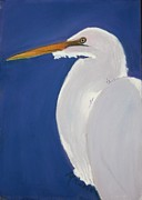 Tropical Pastels - Egret by Michele Turney