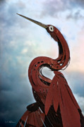 Christopher Holmes - Egret Under Stormy Skies