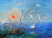 Doris Blessington - Egrets at Sunrise
