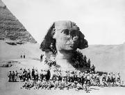Great Sphinx Framed Prints - Egypt: Great Sphinx, 1882 Framed Print by Granger