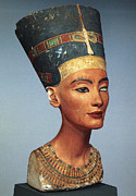 Statue Portrait Metal Prints - Egypt: Nefertiti Metal Print by Granger