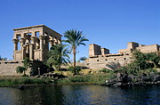 Sami Sarkis Framed Prints - Egypt Philae Temple Framed Print by Sami Sarkis