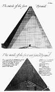 John Greaves Prints - Egypt: Pyramid Diagram Print by Granger