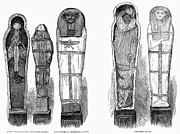 Hathor Framed Prints - Egypt: Royal Mummies, 1882 Framed Print by Granger
