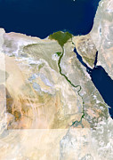 Cartography Photos - Egypt, Satellite Image by Planetobserver