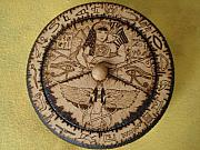Egypt Pyrography - Egyptian box by George Wandega