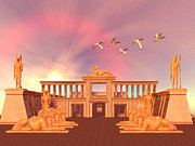 Ibis Digital Art - Egyptian Kingdom 01 by Corey Ford