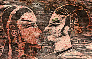 Manuscript Mixed Media - Egyptian love  by Cristina Movileanu