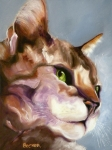 Oil Portrait Drawings - Egyptian Mau Princess by Susan A Becker