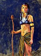 Original Pastels Metal Prints - Egyptian Princess Metal Print by Mary Giacomini