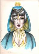 Prisma Colored Pencil Prints - Egyptian Princess Print by Scarlett Royal