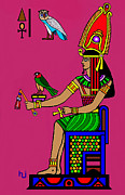 Ruler Mixed Media Posters - Egyptian Royalty Poster by Hartmut Jager