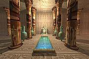 Tutankhamen Prints - Egyptian Temple Print by Corey Ford