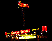 Egyptian Theatre Prints - Egyptian Theatre in Coos Bay Oregon Print by Gary Rifkin