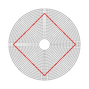 Illusory Art - Ehrenstein Illusion, Square In Circles by