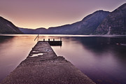Sunset In Norway Metal Prints - Eidfjord At Sunset Metal Print by Jesus Villalba