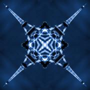 Blue Digital Art - Eiffel Art 1 by Mike McGlothlen