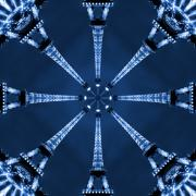 Abstract Digital Art - Eiffel Art 17 by Mike McGlothlen