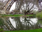 Mark Currier Art - Eiffel Base Reflection by Mark Currier