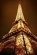 Paris Metal Prints - Eiffel Metal Print by Skip Hunt