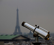 Rooftops Art - Eiffel Telescope by Andrew Fare