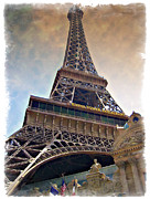 Tree Art Print Framed Prints - Eiffel Tower - IMPRESSIONS Framed Print by Ricky Barnard