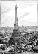 Exhibition Hall Posters - Eiffel Tower, 1889 Universal Exposition Poster by