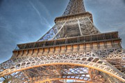 Village By The Sea Digital Art Prints - Eiffel Tower Print by Barry R Jones Jr