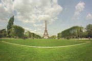 Field. Cloud Prints - Eiffel Tower Print by by Juanedc