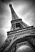 E Black Metal Prints - Eiffel Tower DYNAMIC Metal Print by Melanie Viola