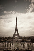 Paris Metal Prints - Eiffel Tower Metal Print by Ei Katsumata