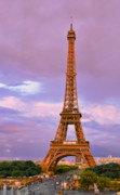 Editorial Originals - Eiffel Tower Evening by Evgeny Ivanov